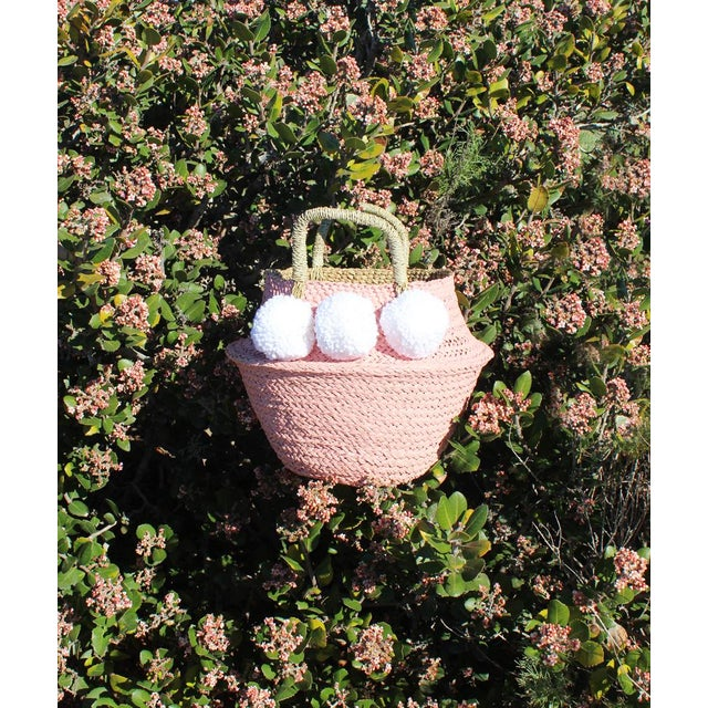 Pink Belly Basket & Pom-Poms - Image 4 of 5