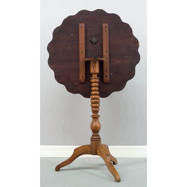 Late 19th Century 19th C. French Mahogany Tilt-Top Table For Sale - Image 5 of 10