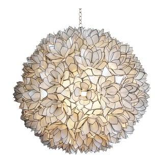 """Lotus Flower Capiz Lantern 24"""""""