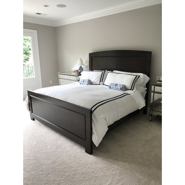 Contemporary Lexington Nautica Dark Wood King Bed Frame For Sale - Image 3 of 10