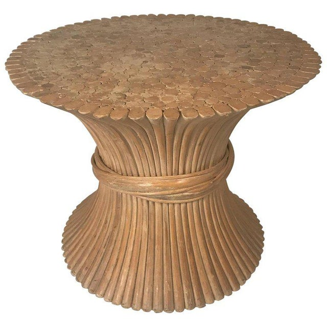 John and Elinor McGuire Round Rattan Coffee or Centre Table / Glass Available For Sale - Image 9 of 9