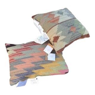 Pottery Barn Kilim Pillows - a Pair