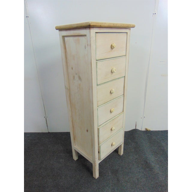 Country Style White Distressed Painted Lingerie Chest For Sale In Philadelphia - Image 6 of 7