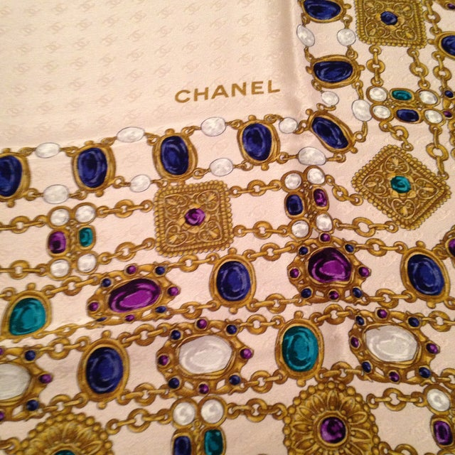 501e2a7f8ab Vintage Chanel Scarf For Sale - Image 5 of 10