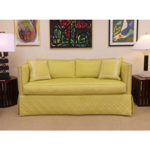 Wesley Hall Contemporary Blaine Sofa With Silver Nailhead Trim For Sale - Image 10 of 11