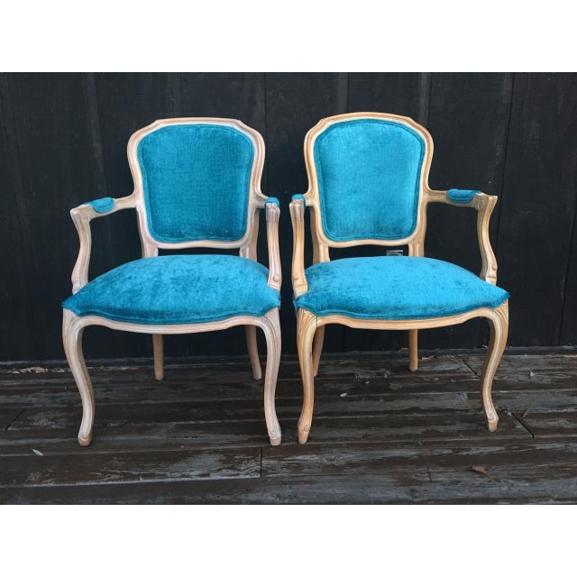 Cottage French Bergere Chairs - a Pair For Sale - Image 3 of 11