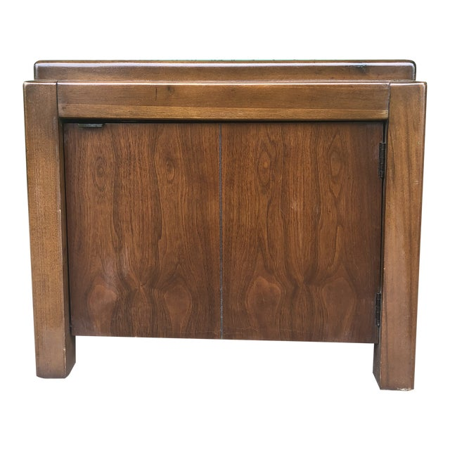 1970s Mid Century Modern Walnut Nightstand by Lane For Sale