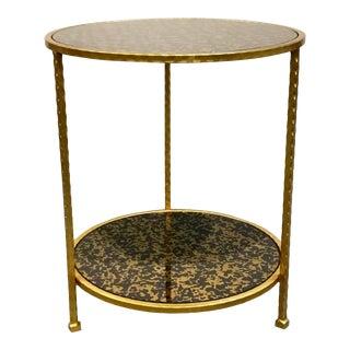Port 68 Modern Harper Black Gold Side Table For Sale