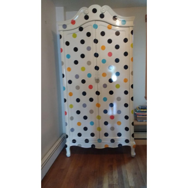 Contemporary Polka Dot Armoire - Image 4 of 4