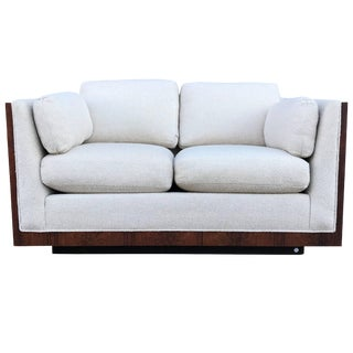 Milo Baughman for Thayer Coggin Rosewood Case Loveseat For Sale