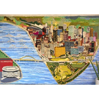 1960s Hand Woven Heinz Pittsburgh Pennsylvania Tapestry Fibre Art Wall Hanging For Sale