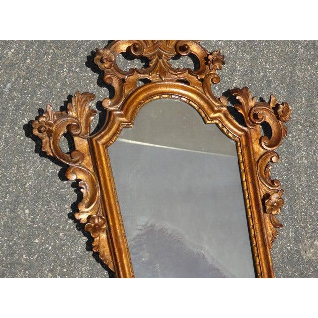 Antique Italian Rococo Giltwood Wall Mirror - Image 6 of 11