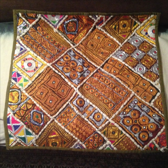 Large Stunning Global Chic Pillow Including Insert - Image 2 of 11