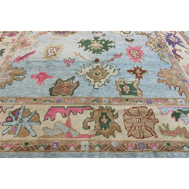 Contemporary Turkish Oushak Rug - 9′4″ × 13′3″, Pastel For Sale - Image 11 of 13