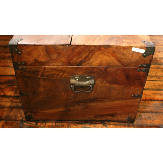 Antique Chinese Trunk Coffee Table - Image 4 of 6