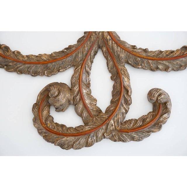 B&B Italia Early 20th Century Rocaille Silver Gilt Wall Ornaments - a Pair For Sale - Image 4 of 10