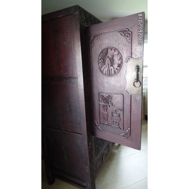 Antique Chinese Wardrobe- Wedding Chest For Sale - Image 11 of 13