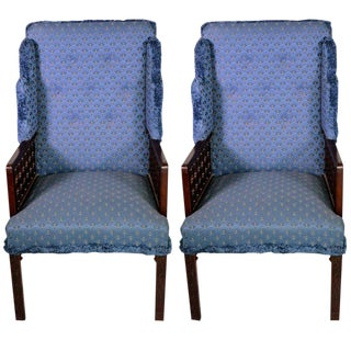 English Mohagany Armchairs - A Pair