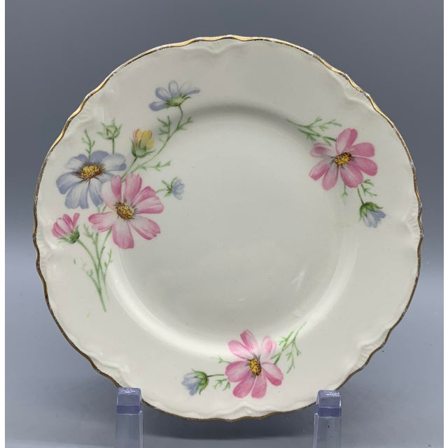 1940s 1940s Vintage Homer Laughlin's Virginia Rose Dinner Plates- 21 Pieces For Sale - Image 5 of 10
