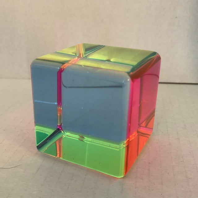 Acrylic Acrylic Prism Cube by Vasa For Sale - Image 7 of 9