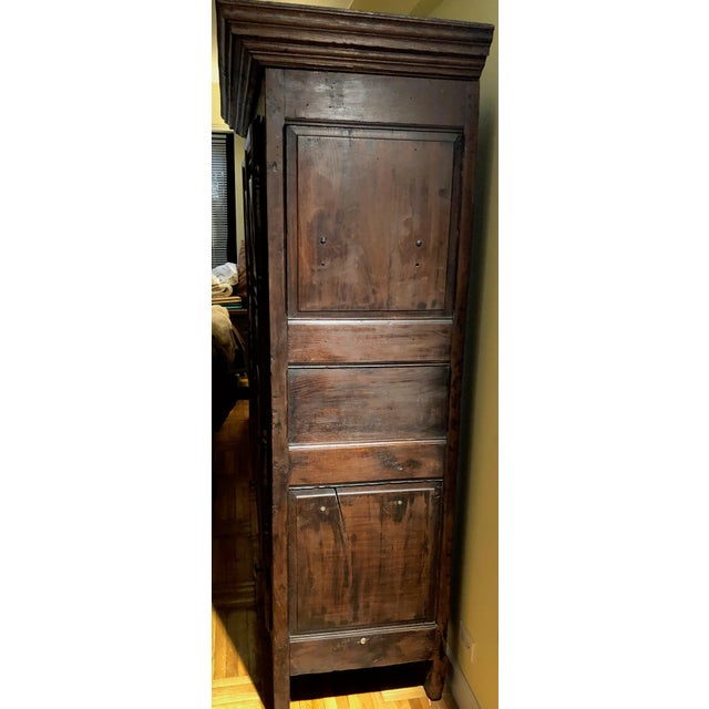 Early 19th Century Antique French Louis XIII Raised Croisillons Motifs Armoire For Sale - Image 5 of 9