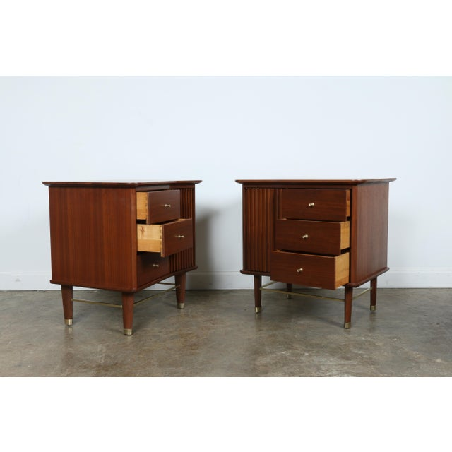 Refinished Walnut Side Tables Nightstands - A Pair - Image 2 of 11