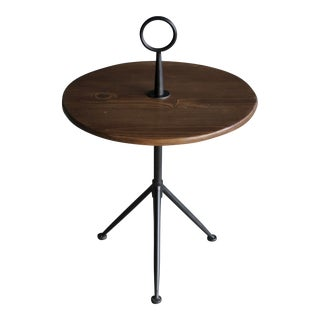 Midcentury Modern Tripod Side Table in the Manner of Cesare Lacca