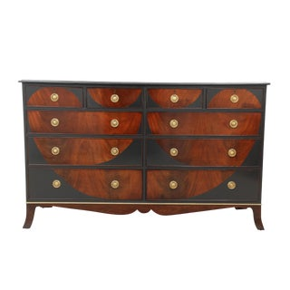 Stylized Flame Mahogany Dresser