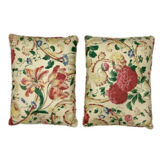Modern Floral Toss Accent Pillows- A Pair For Sale