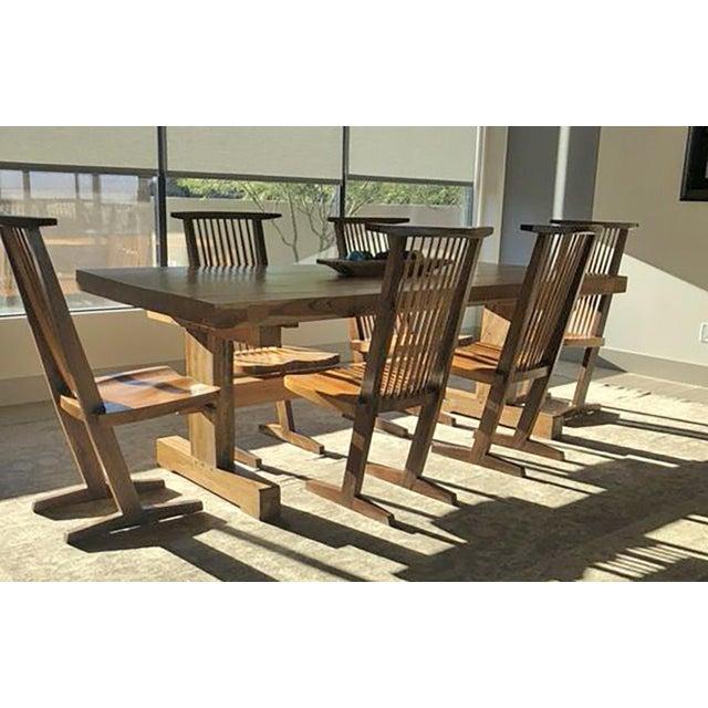 Custom Monkeypod Slab Dining Table For Sale In Las Vegas