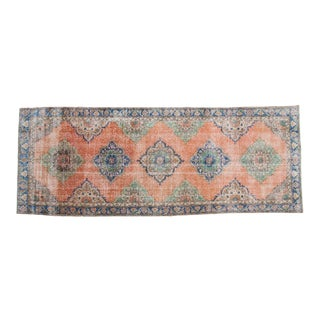 "Vintage Distressed Oushak Rug Runner - 4'11"" x 11'2"""