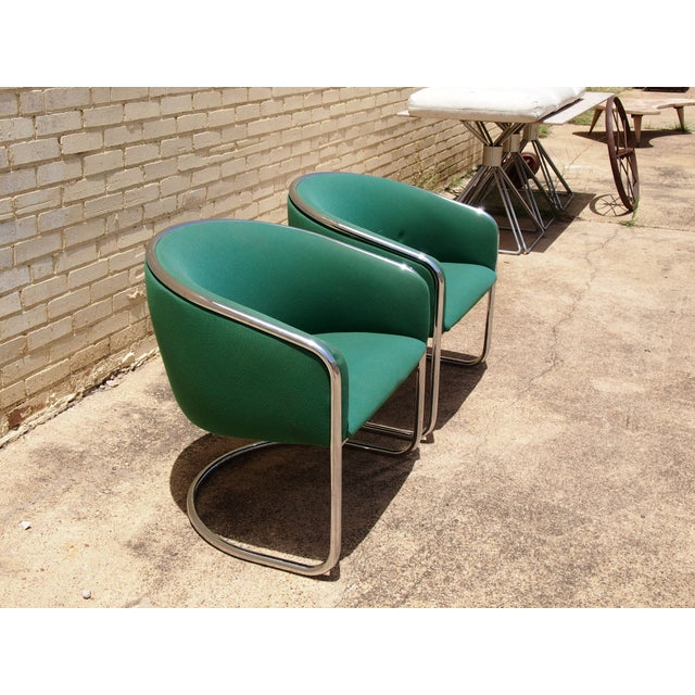 Mid-Century Modern Thonet Lounge Club Chairs - A Pair For Sale - Image 3 of 3