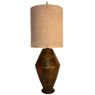 Damon Giffard for Hansen Lighting Company Copper Table Lamp For Sale