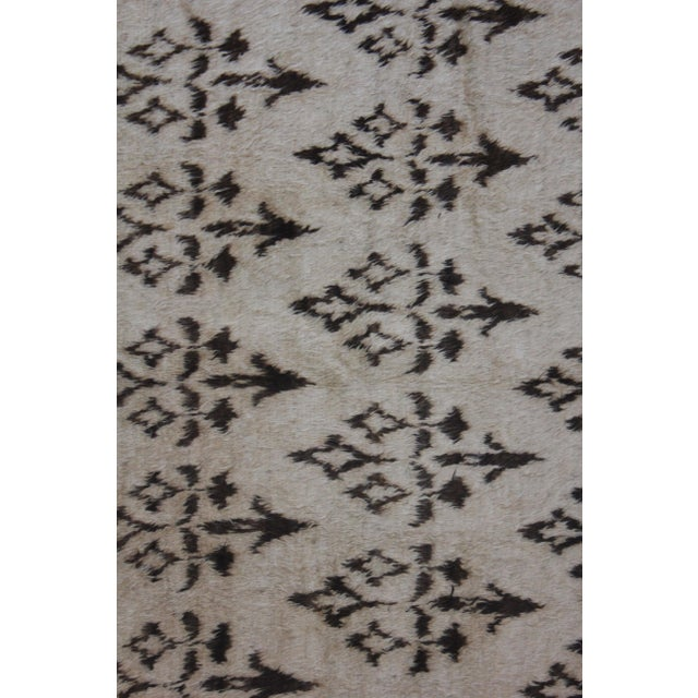 """Modern Hand Knotted Ikat Rug by Aara Rugs- 10'10"""" x 8'3"""" For Sale - Image 3 of 3"""