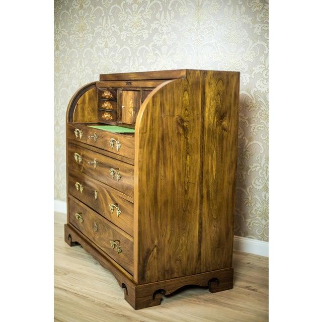 Wood Elm Secretary Desk, circa the 19th Century For Sale - Image 7 of 13