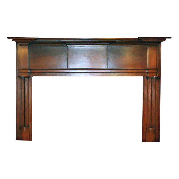 19th Century American Pine Wooden Mantel - Image 1 of 4