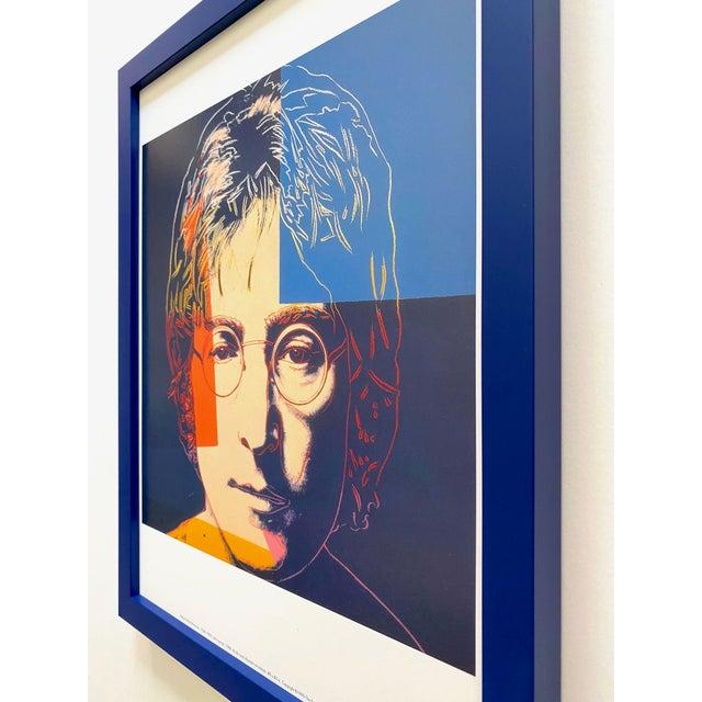 """Andy Warhol Estate Vintage 1990 Framed Pop Art Lithograph Print """" John Lennon """" 1986 For Sale - Image 11 of 13"""