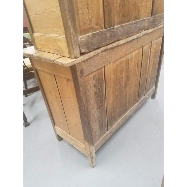 Late 19th Century Primitive Antique Pine Cupboard - Made in France For Sale - Image 5 of 13