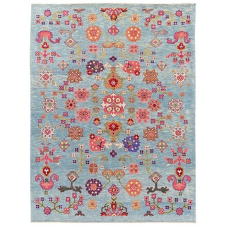 21st Century Modern Colorful Mahal-Style Wool Rug For Sale
