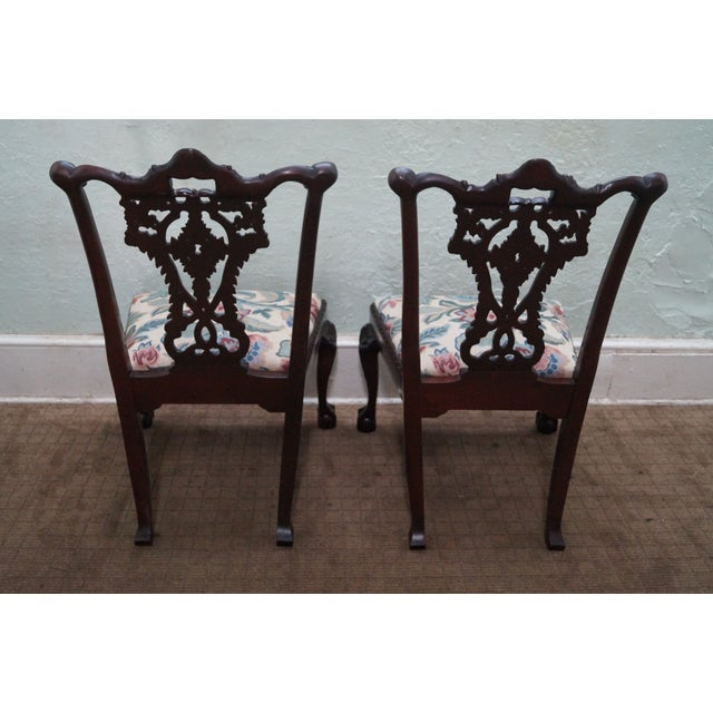 Honduras Mahogany Carved Dining Chairs - Set of 8 - Image 4 of 10