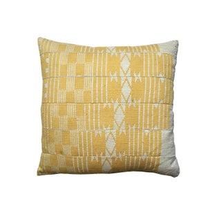 Vintage Yellow Aso Oke Pillow For Sale