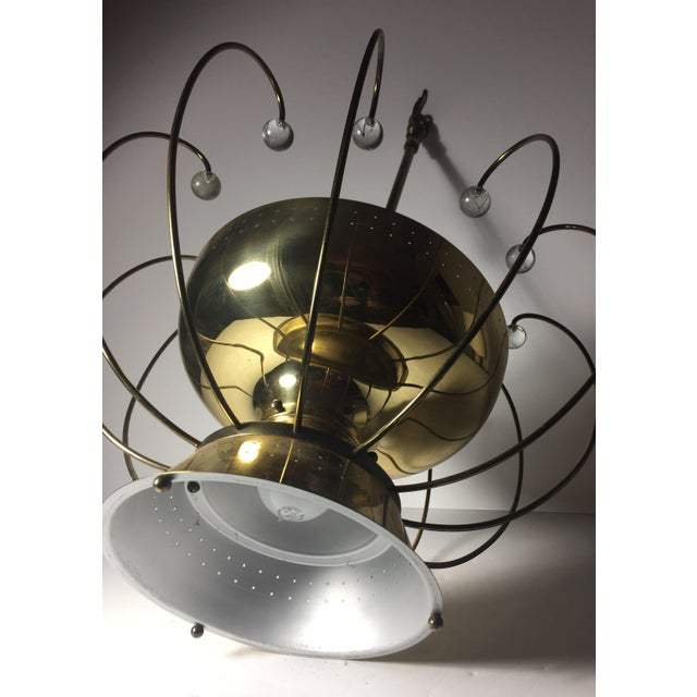 Glass Lightolier Chandelier Ceiling Fixture Lamp For Sale - Image 7 of 10