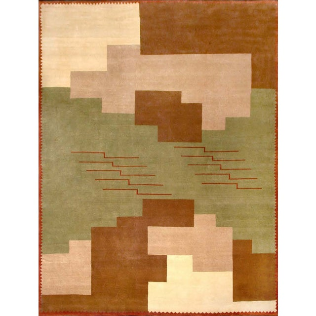 Contemporary Boccara Hand Knotted Limited Edition Artistic Rug Design N.14 For Sale - Image 3 of 3