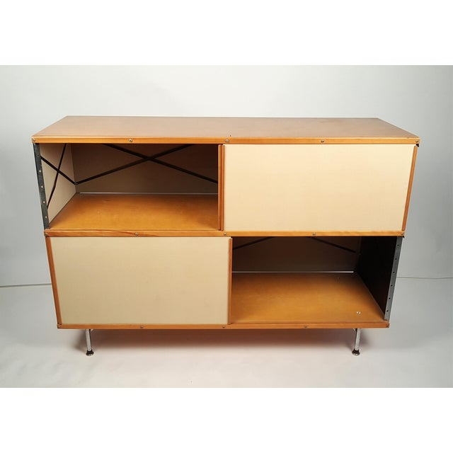 Birch Early ESU 200 Storage Unit by Charles & Ray Eames for Herman MIller For Sale - Image 7 of 11