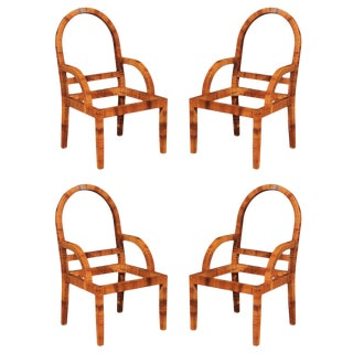 Outstanding Restored Set of Four Vintage Cane Chairs by Bielecky Brothers For Sale