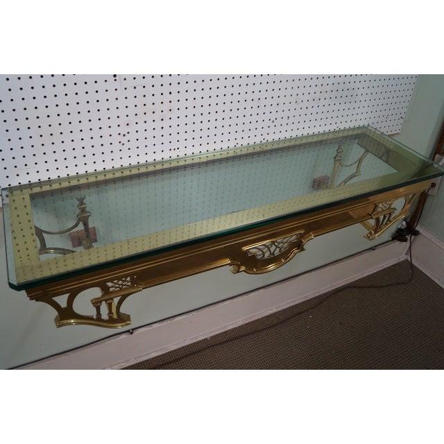 Vintage Brass & Glass Wall Shelf - Image 8 of 10