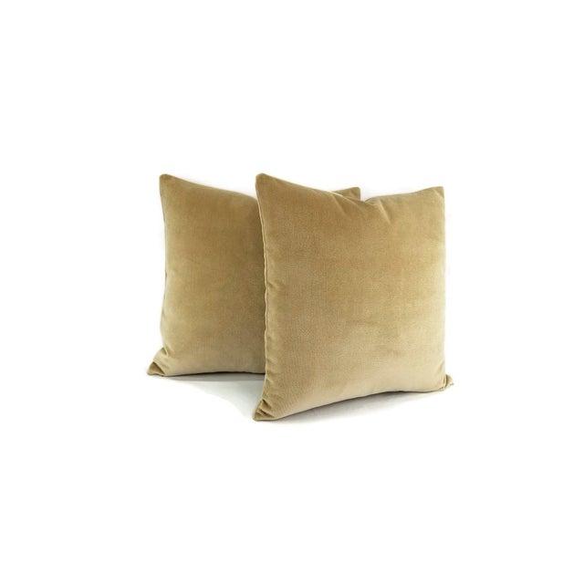 Holly Hunt Holly Hunt Aqua Velvet Sand Pillow Cover For Sale - Image 4 of 10