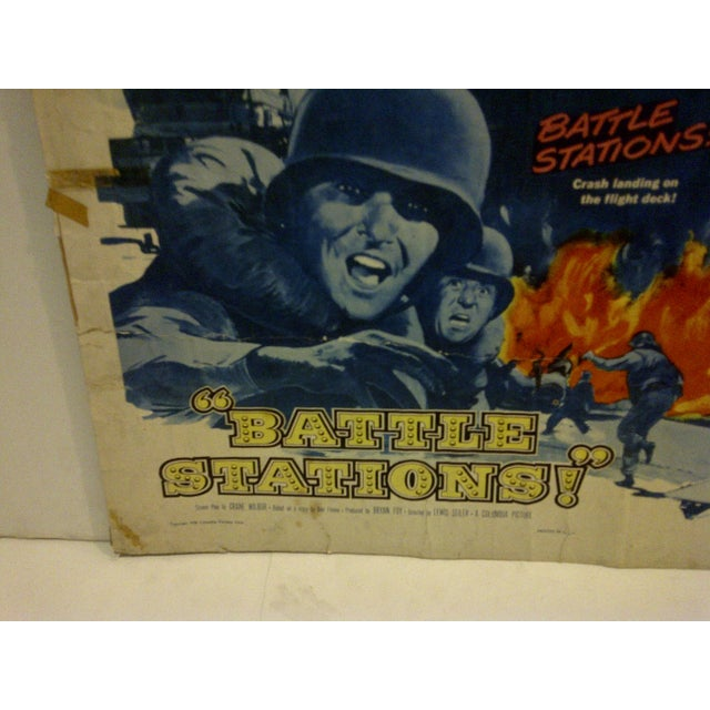 "1956 Vintage Movie Poster of ""Battle Stations"" For Sale - Image 4 of 6"