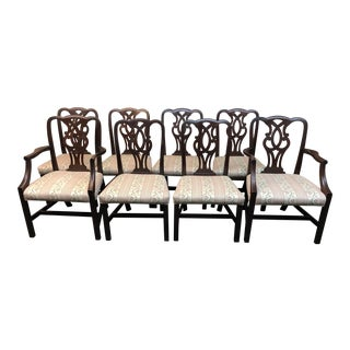 Mahogany Chippendale Style Dining Chairs - Set of 8