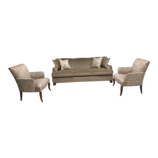 Baker Furniture Transitional Sofa and Accent Chairs For Sale